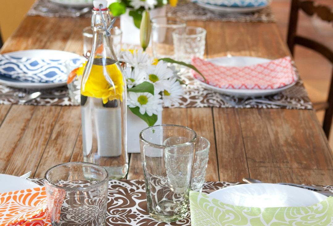 Alfresco dining mix and match table ideas.