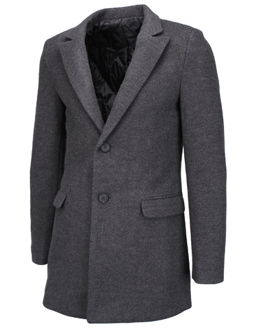 Mens Slim Wool Blend Peaked Lapel Blazer Jacket (BJ110)