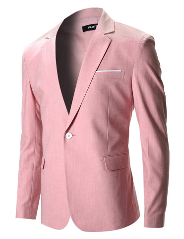 Mens Slim Fit Cotton Stylish Casual Blazer Jacket (BJ202)