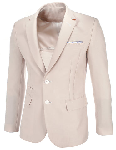 Mens Slim Fit Solid Blazer Jacket (BJ460)