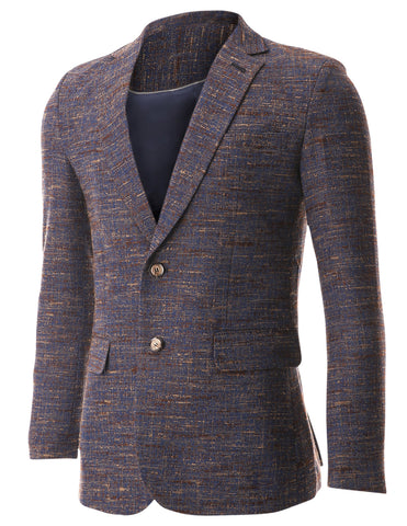 Mens Tweed Multi Woven Wool Blazer Jacket (BJ463)