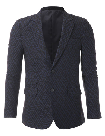 Mens Slim Fit 2 Tone Single Breasted Blazer Jacket with Ticket Pocket (BJ464)