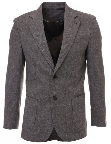 Mens Slim Fit Two Button Premium Wool Blends Blazer Jacket (BJ904)