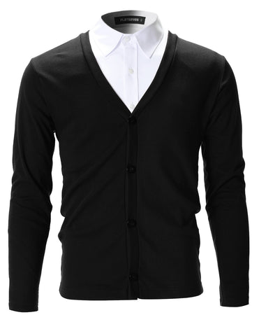 Mens Slim Fit Stylish Button up Cardigan (C100)