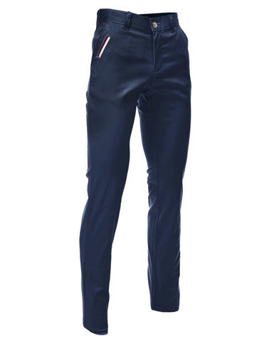 Mens Slim Fit Chino Pants Trouser Premium Cotton Blend (CH198)