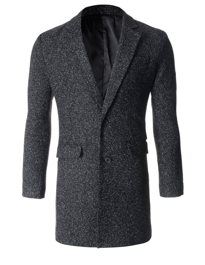 Mens Tow Buttons Winter Wool Coat Jacket (CT125)