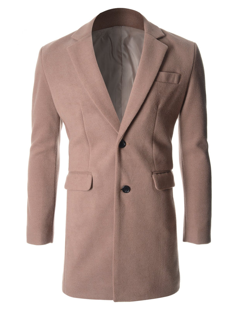 Mens Tow Buttons Winter Wool Coat Jacket (CT126)