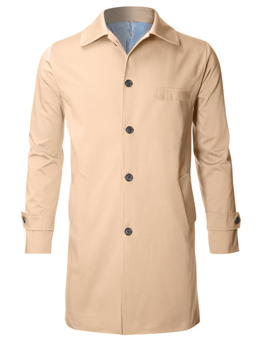 Mens Casual Business Trench OverCoat Jacket (CT144)