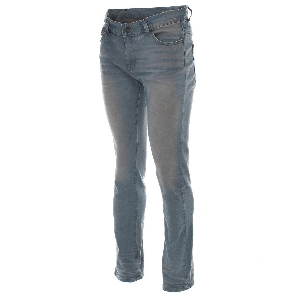 Mens Distressed Skinny Fit Light Wash Denim Jeans (DN19121)
