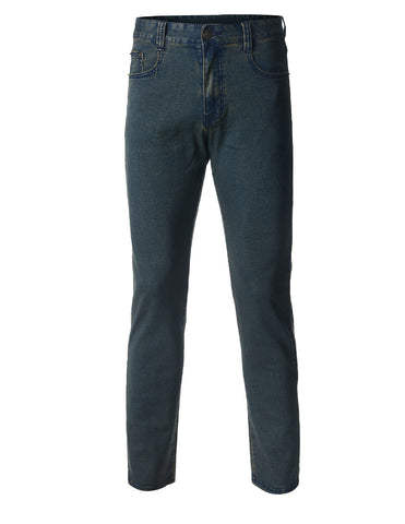 Mens Stretch Skinny Fit Mid Blue Denim Jeans (DN2862)