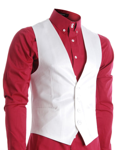 Mens Slim Fit Business Casual Premium Vest (VE200)