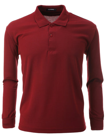 Mens Polo Long Sleeve Shirts (PL01)