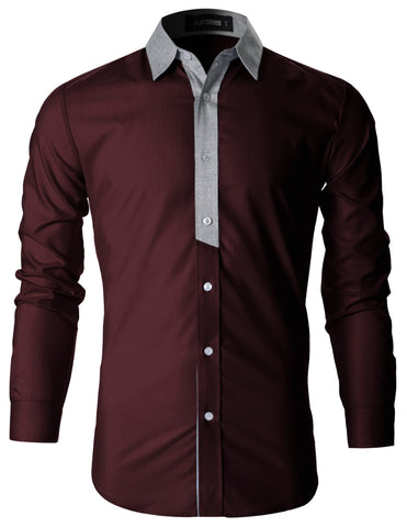 Mens Stylish Contrast Collar Casual Shirt (SH1011)