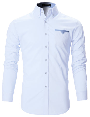 Mens Premium Slim Fit Casual Shirts with Pointed Pocket (SH102)