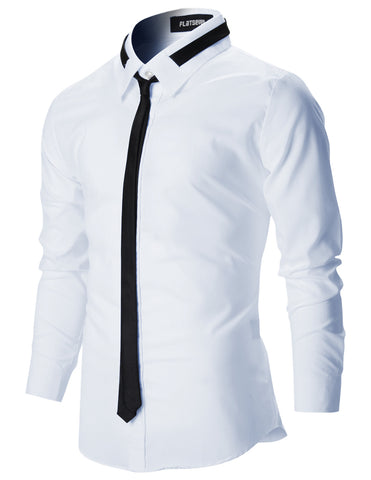 Mens Slim Fit Dress Shirts with Tie (SH107)