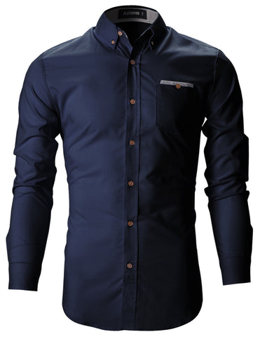 Mens Slim Fit Checkered Lined Casual Dress Shirts (SH131)