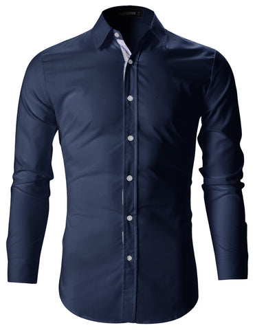 Mens Slim Fit Stylish Casual Dress Shirts (SH142)