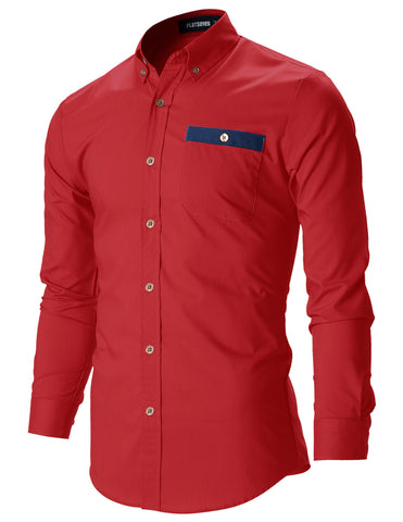 Mens Slim Fit Stunning Design Casual Oxford Shirts (SH143)