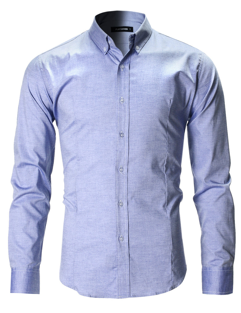Men's Slim Fit Oxford Button Down Casual Shirt Long Sleeve (SH611)