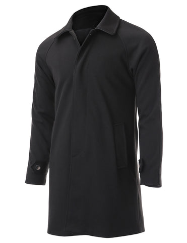 Mens Long Topcoat Single Breasted Classic Jacket (TJ301)