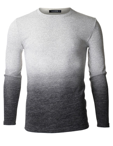 Mens Casual Two Tone Gradation Long Sleeve T-shirts (TRL3012)