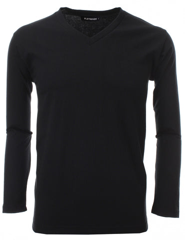 Mens V-Neck Long Sleeve T-Shirts (TVL01)