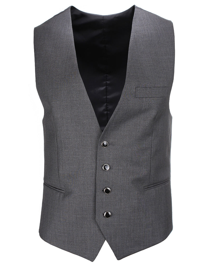 Mens Slim Fit Business Casual 4 Button Premium Vest Waistcoat (VE233)