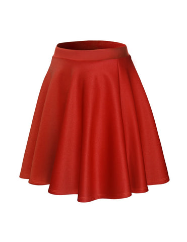 Womens Flared Skater Mini Skirt (WSCX101)