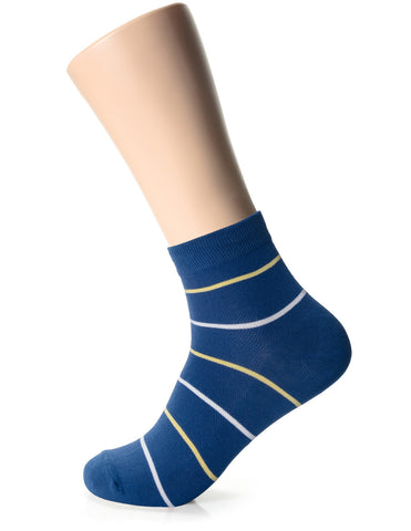 Mens Fashion Striped Casual Dress Socks (XM1001B)