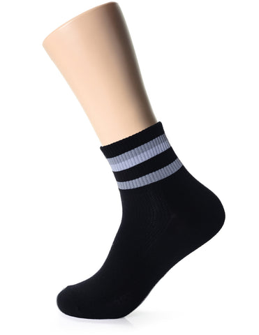 Mens Fashion Striped Casual Dress Quarter Socks (XM1001C)