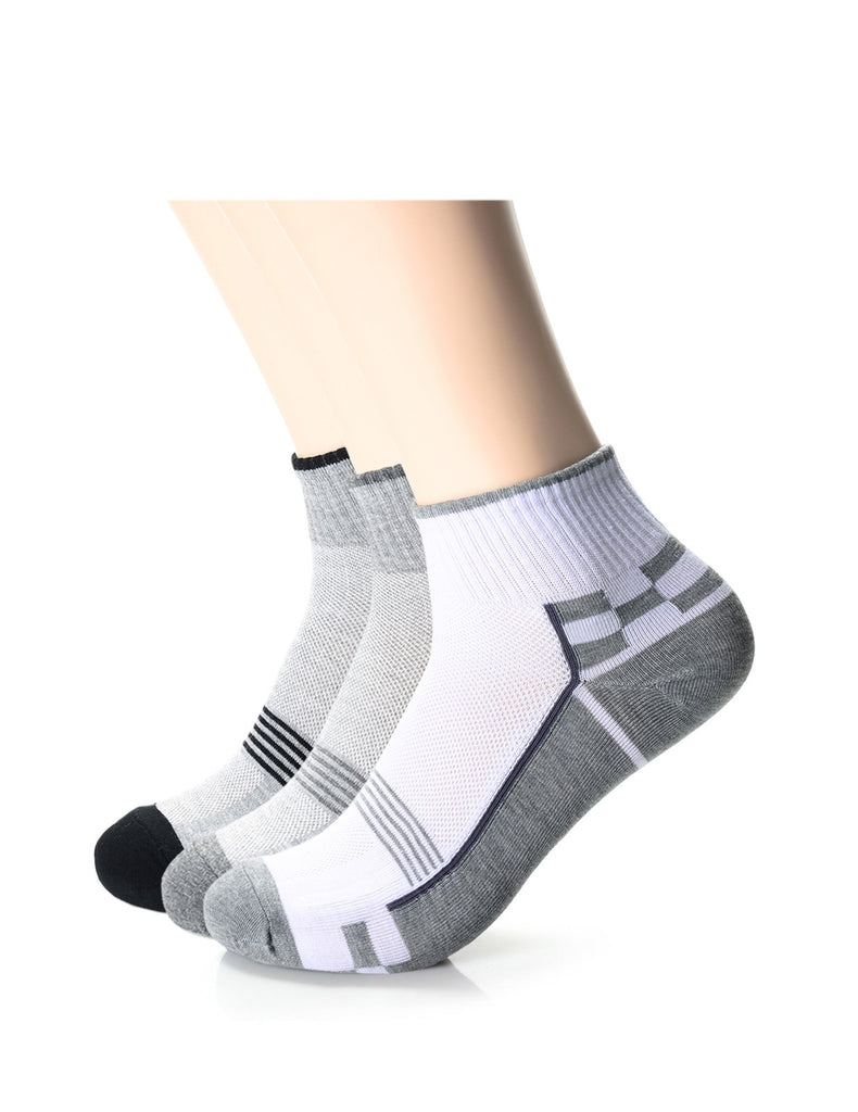 Mens Fashion Casual Quarter Dress Socks (XM1001D)