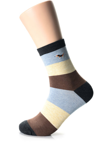 Mens Fashion Athletic Animal Crew Socks (XM1001E)