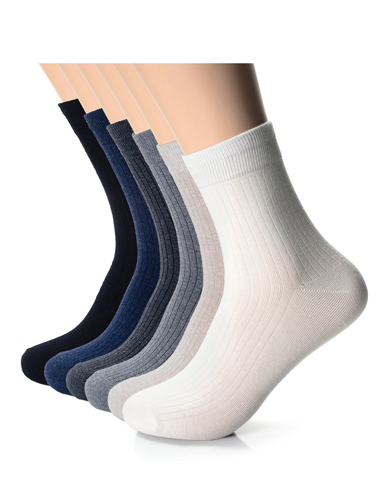Mens Fashion Dress Crew Socks (XM1001J)