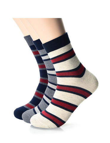 Mens Fashion Casual Dress Bengal Stripe Crew Socks (XM1001L)