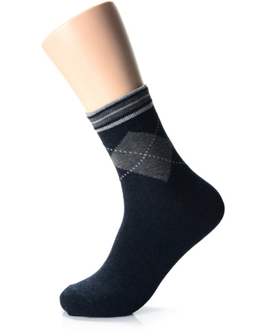Mens Fashion Casual Dress Crew Socks (XM1001N)