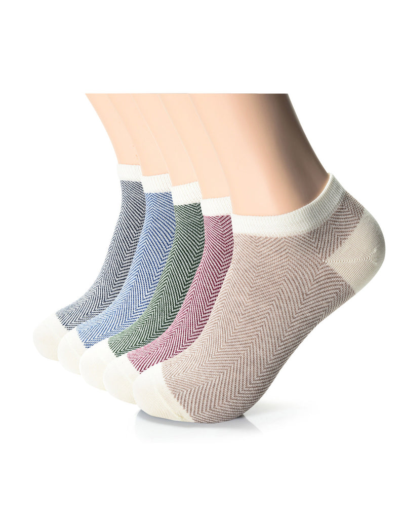 Mens Designer Fashion Herringbone Dress Ankle Socks (XMM1001B)