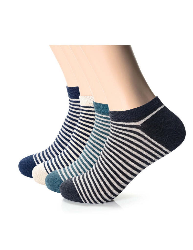 Mens Designer Dress Striped Ankle Socks (XMM1001E)