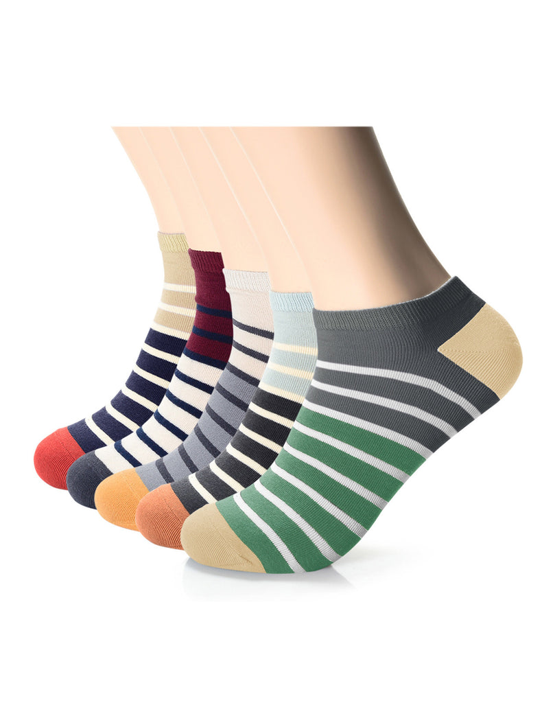 Mens Designer Striped Color Block Ankle Socks (XMM1001H)