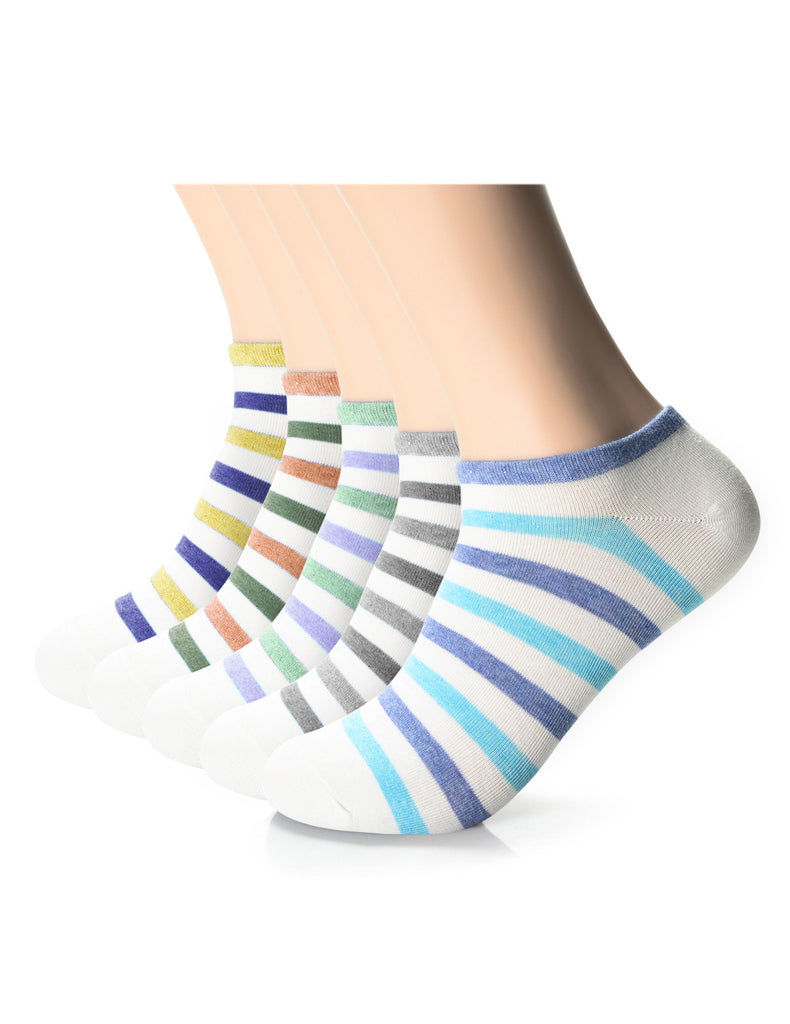 Mens Designer Bold Striped Ankle Socks (XMM1001I)