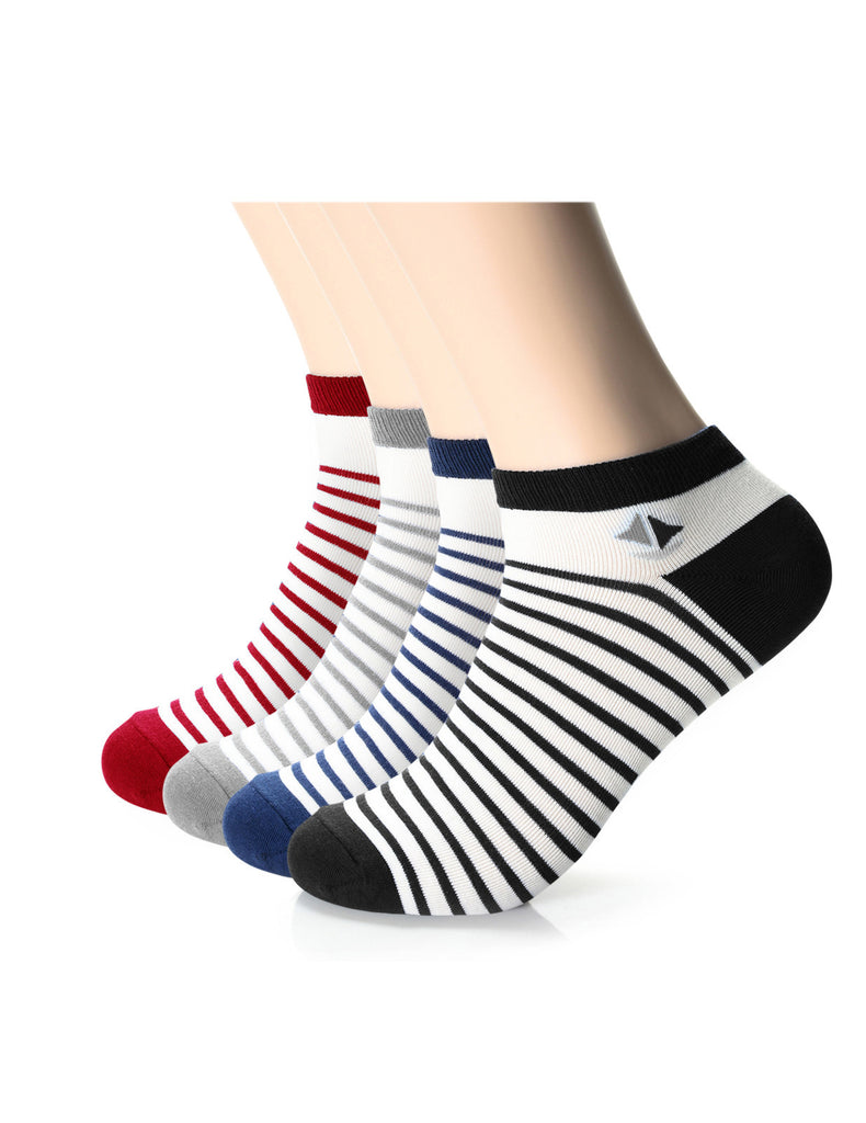 Mens Designer Athletic Striped Low Ankle Socks (XMM1001L)