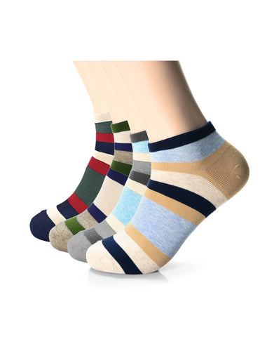 Mens Fashion Bold Stripe Casual Dress Socks (XMM1001X)