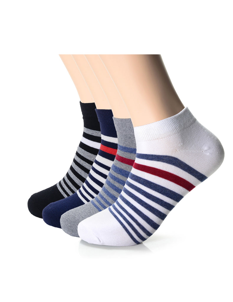 Mens Fashion Gradual Stripe Casual Dress Socks (XMM1002A)