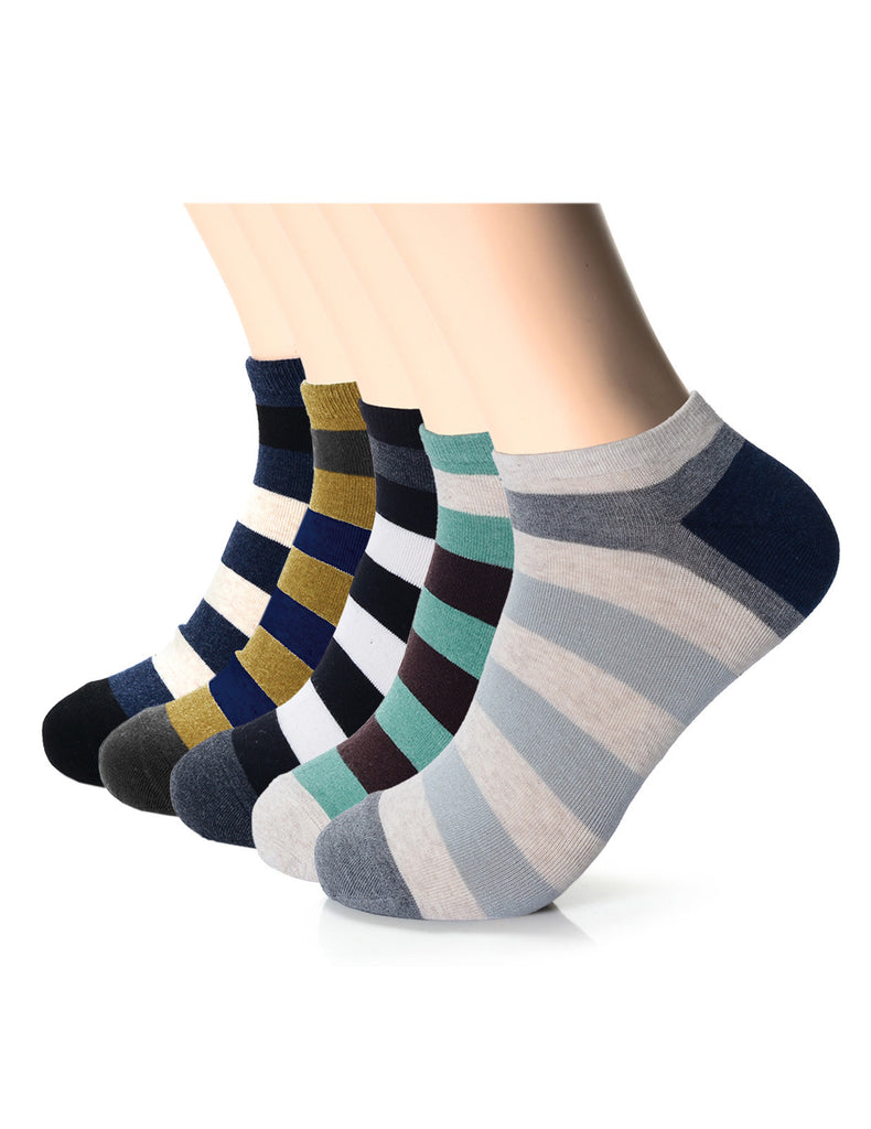 Mens Fashion Bold Stripe Athletic Socks (XMM1002C)