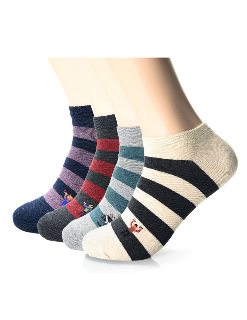 Mens Fashion Athletic Striped Funny Socks (XMM1002F)