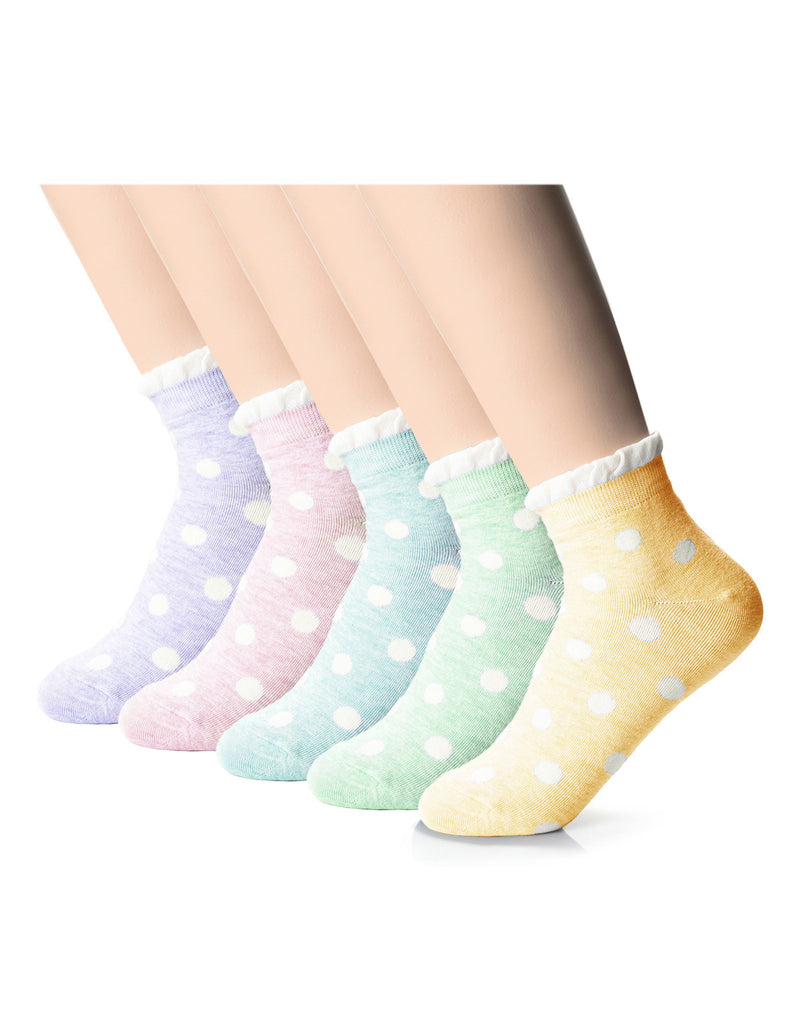 Womens Fashion Polka Dots Casual Dress Socks (XW1001A)