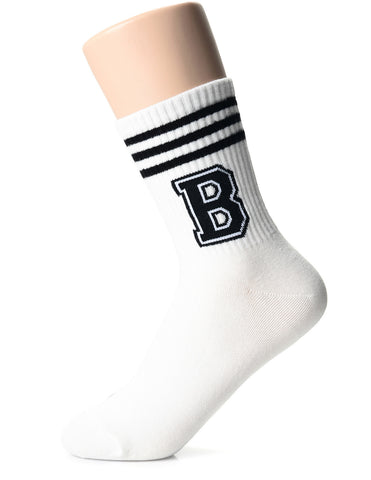 Womens Fashion Funny Athletic Striped Neck Socks (XW1001N)