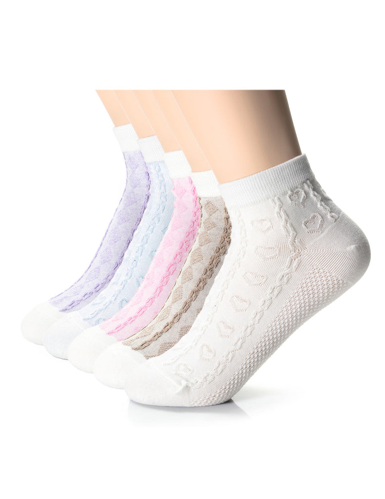 Womens Fashion Embossed Casual Dress Socks (XWM1001B)