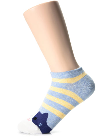 Womens Fashion Cat Friends Casual Ankle Socks (XWM1001F)