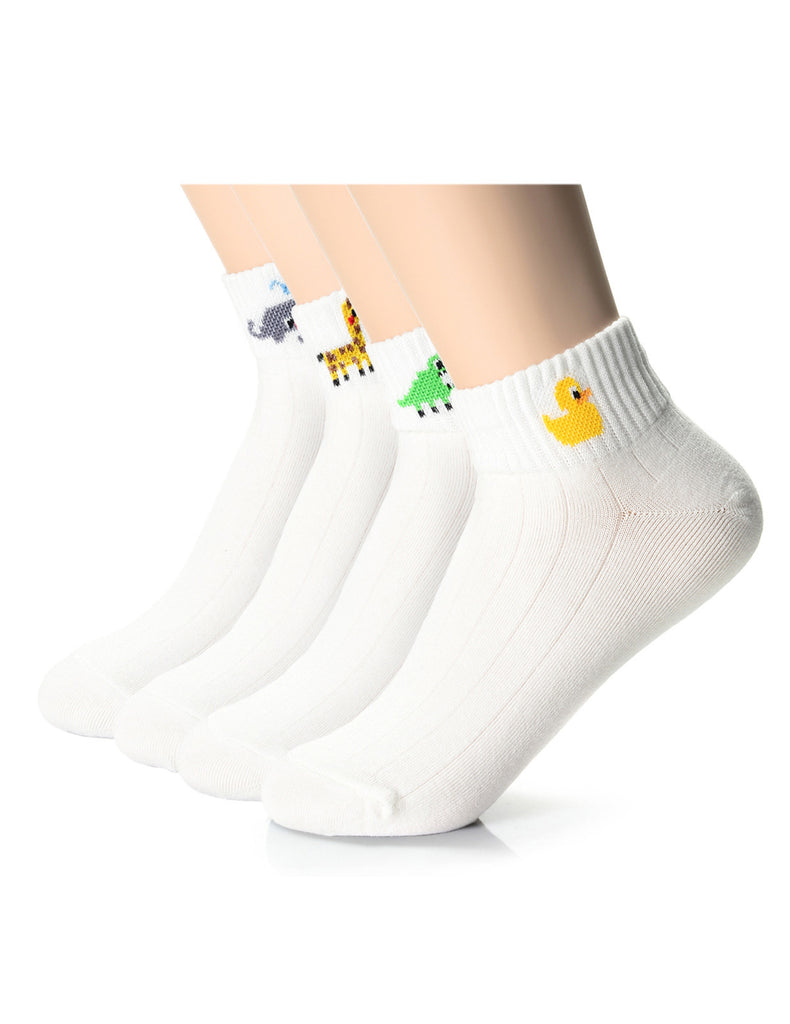 Womens Fashion Animal Friends Casual Ankle Socks (XWM1001H)