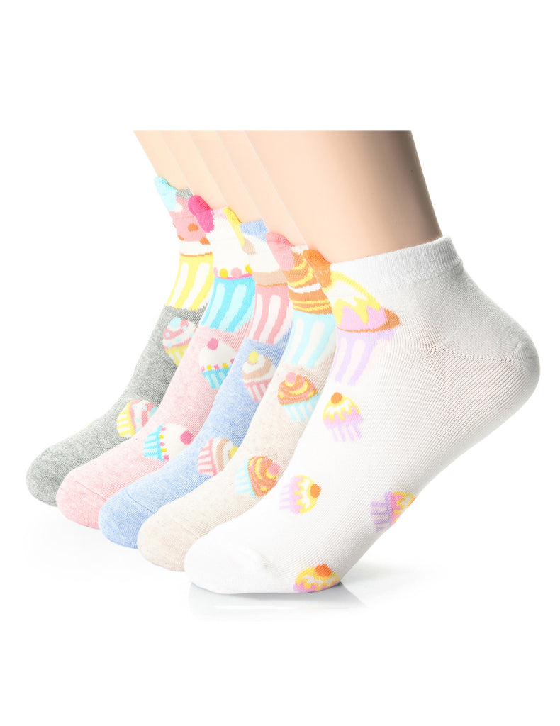 Womens Fashion Ice Cream Friends Casual Ankle Socks (XWM1001I)